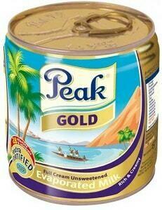 PEAK EVAPORATED IMPORTED MILK(GOLD) 160G TIN