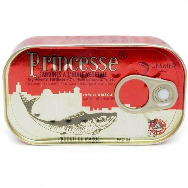 PRINCESSE SARDINES 125G