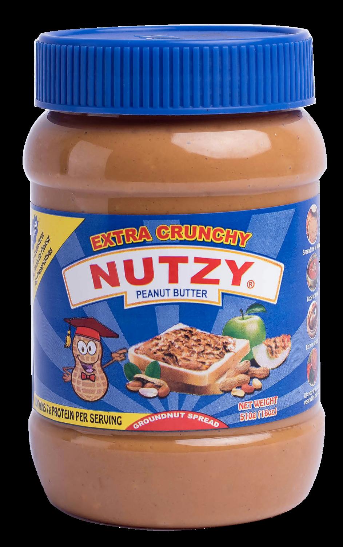 NUTZY EXTRA CRUNCHY PEANUT BUTTER 510G