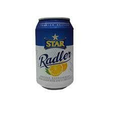STAR RADLER L/BEER&CITRUS JUICE CAN 33CL