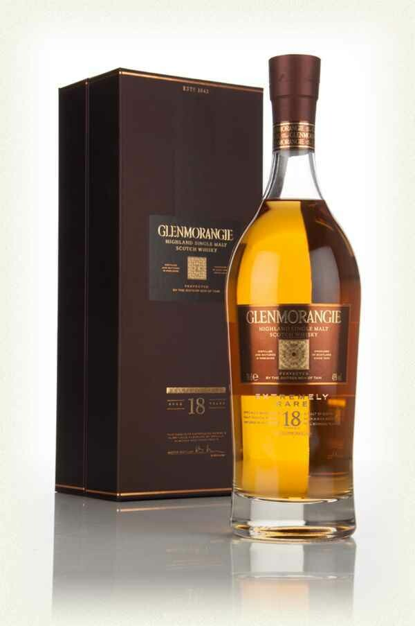 GLENMORANGIE SINGLE MALT SCOTISH EXTREMELY RARE 18YRS 70CL