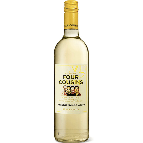 FOUR COUSINS NATURAL SWEET WHITE WINE 750ML
