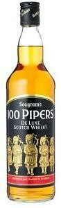 SEAGRAM'S 100 PIPERS DELUXE BLENDED SCOTCH WHISKY 700ML