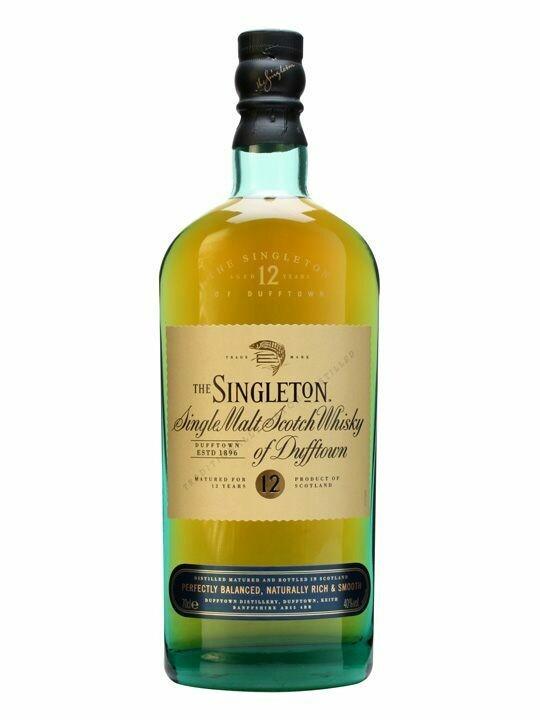 SINGLETON S/MALT SCTCH WSKY 12YRS 70CL