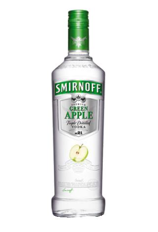 SMIRNOFF VODKA TWIST GREEN APPLE 1LTR.