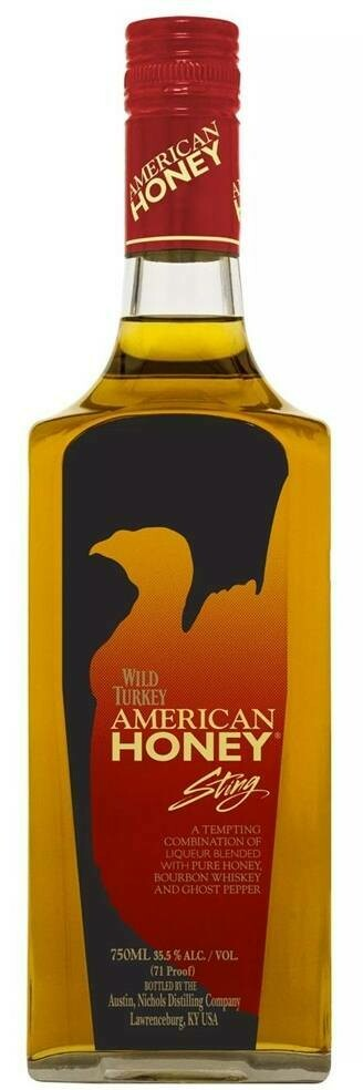 WILD TURKEY AMERICAN HONEY STING BOURBON WHISKEY 71 PROOF 750ML