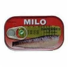 MILO SARDINES IN VEG.OIL (SALTED) 125G