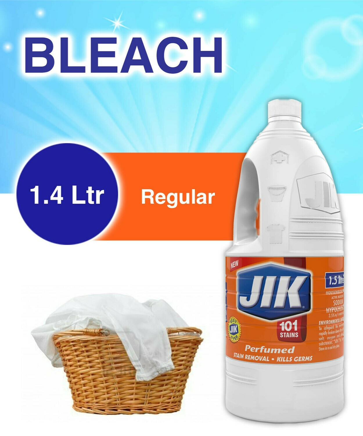 JIK PERFUMED BLEACH 1400ML
