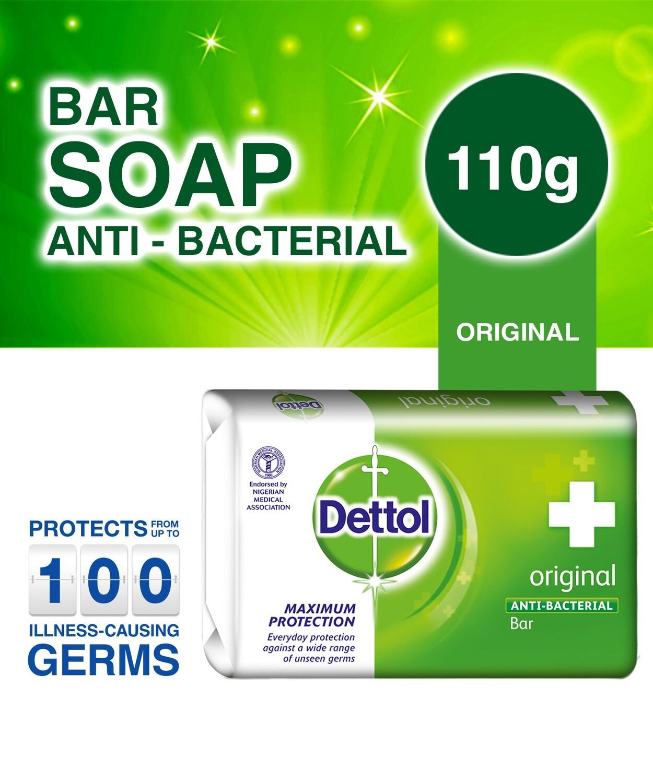 DETTOL ANTISEPTIC SOAP ORG. FRAG. 110GM