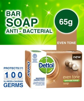 DETTOL ANTI-BACTERIAL EVEN TONE SOAP 65G