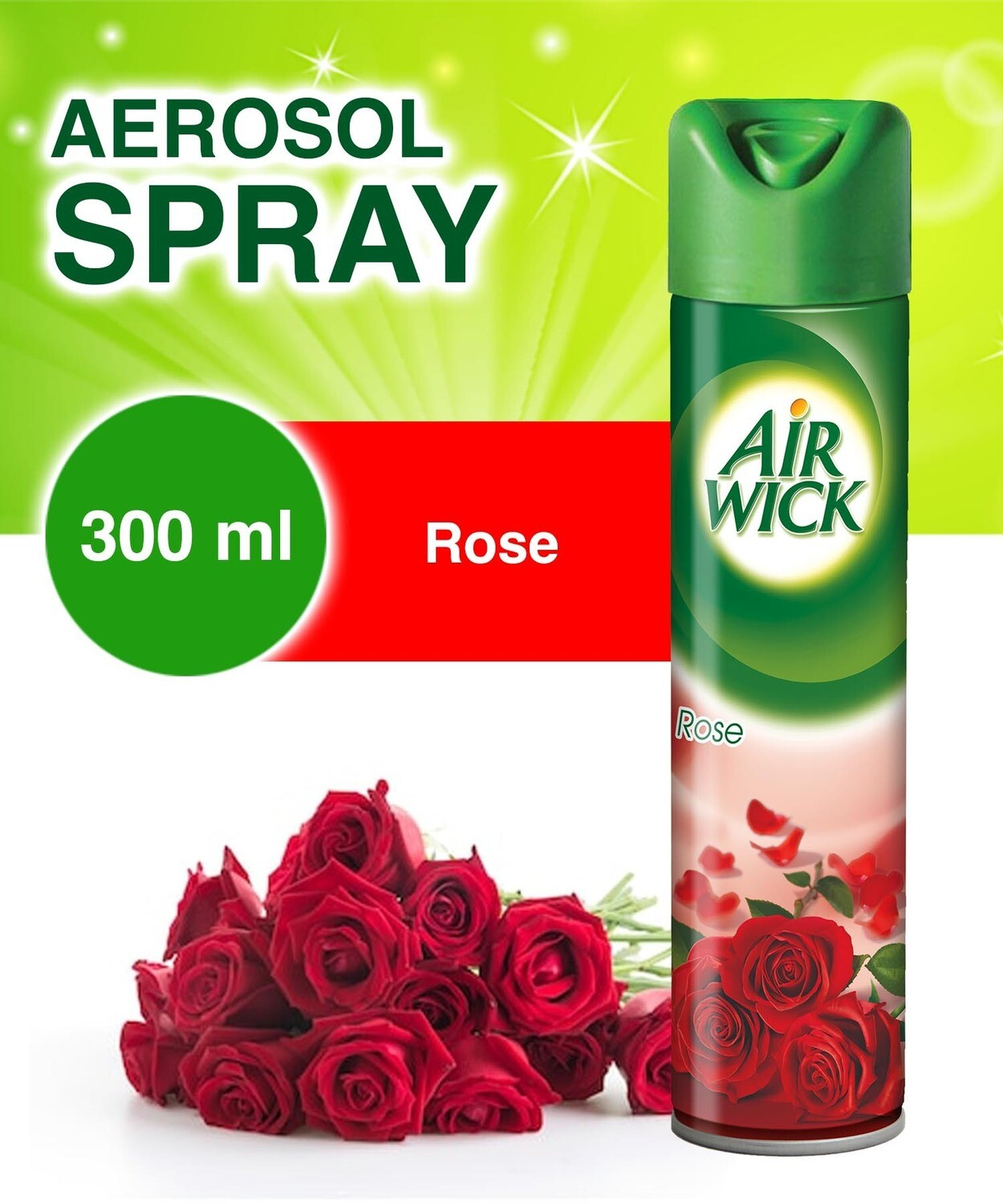AIR WICK 2IN1 A/F.ROSE 300ML
