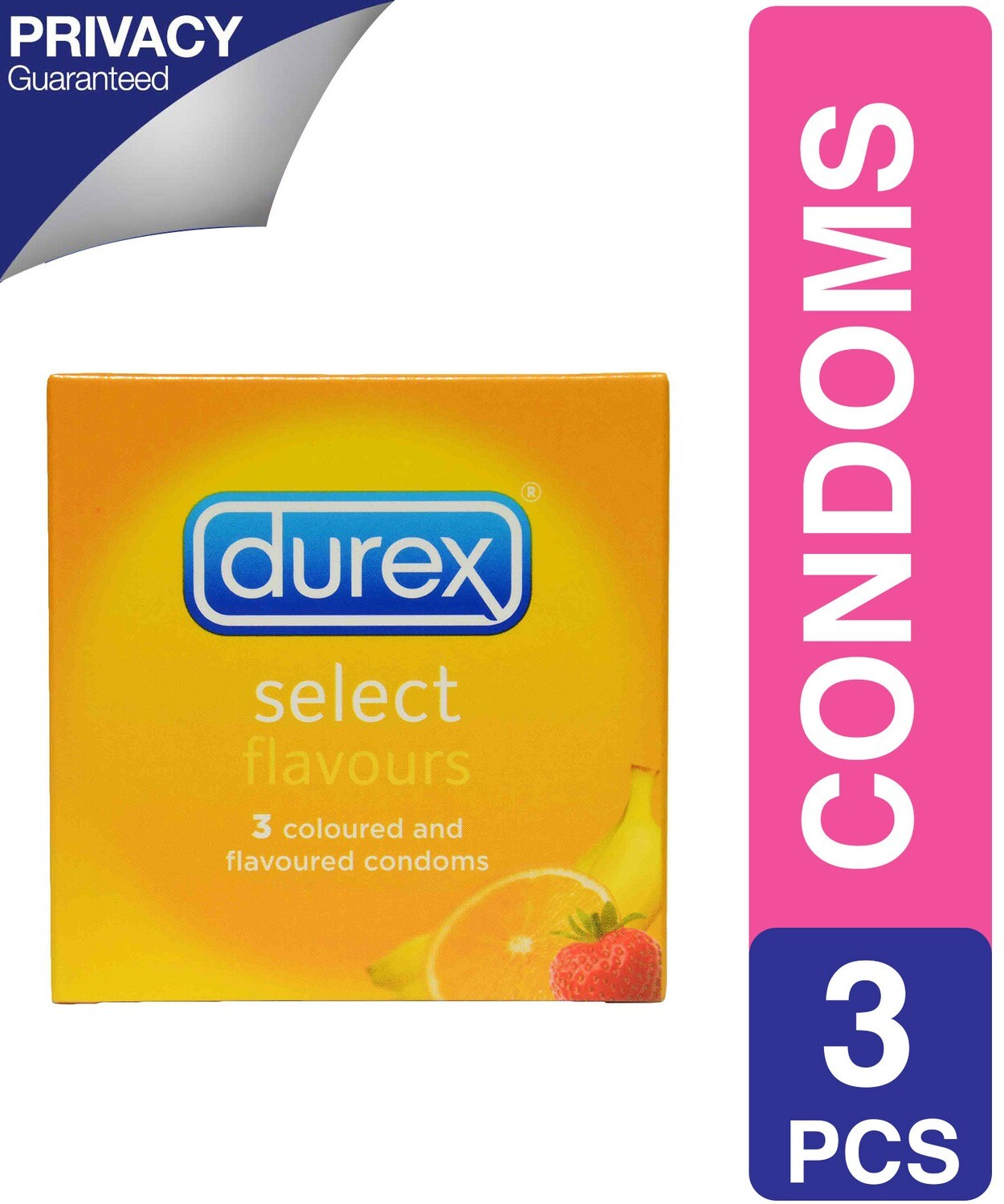 DUREX CONDOMS SELECT FLAVOURS 3'S