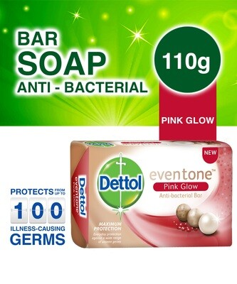 DETTOL EVENTONE PINK GLOW ANTI BACTERIAL SOAP 110G