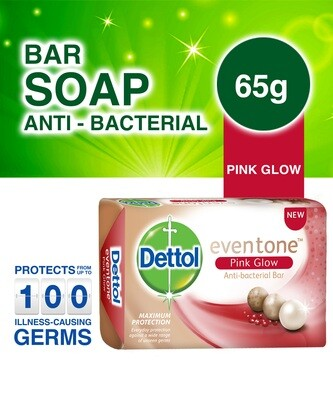 DETTOL EVENTONE PINK GLOW ANTI BACTERIAL SOAP 65G