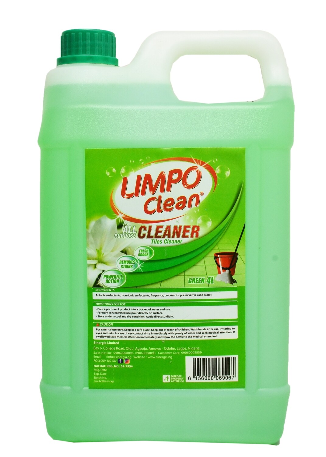LIMPO CLEAN ALL PURPOSE CLEANER GREEN 4LTR