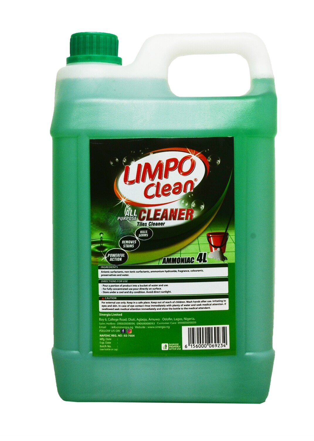 LIMPO CLEAN ALL PURPOSE CLEANER AMONIAC 4LTR