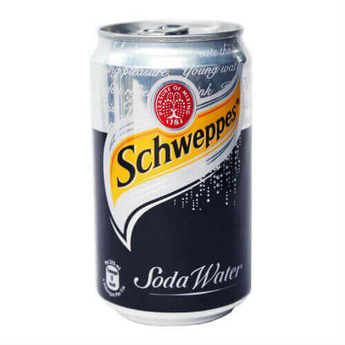 SCHWEPPES SODA WATER CAN 33CL