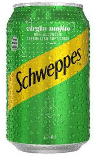 SCHWEPPES VIRGIN MOJITO 33CL CAN