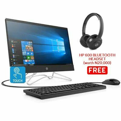 "HP 22 AIO DESKTOP CI3 4G 1TB 21.5"" W10  TOUCH BLACK 9CT27EA"