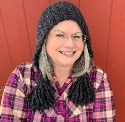 Hand Crocheted Chunky Tassel Ear Flap Hat