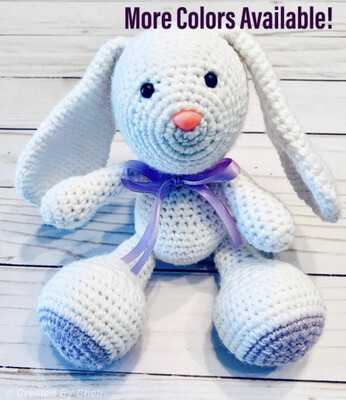 Crocheted Stuffed Bunny, Amigurumi Easter Bunny