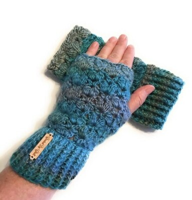 Crocheted Vintage Lacy Fingerless Gloves Made to Order
