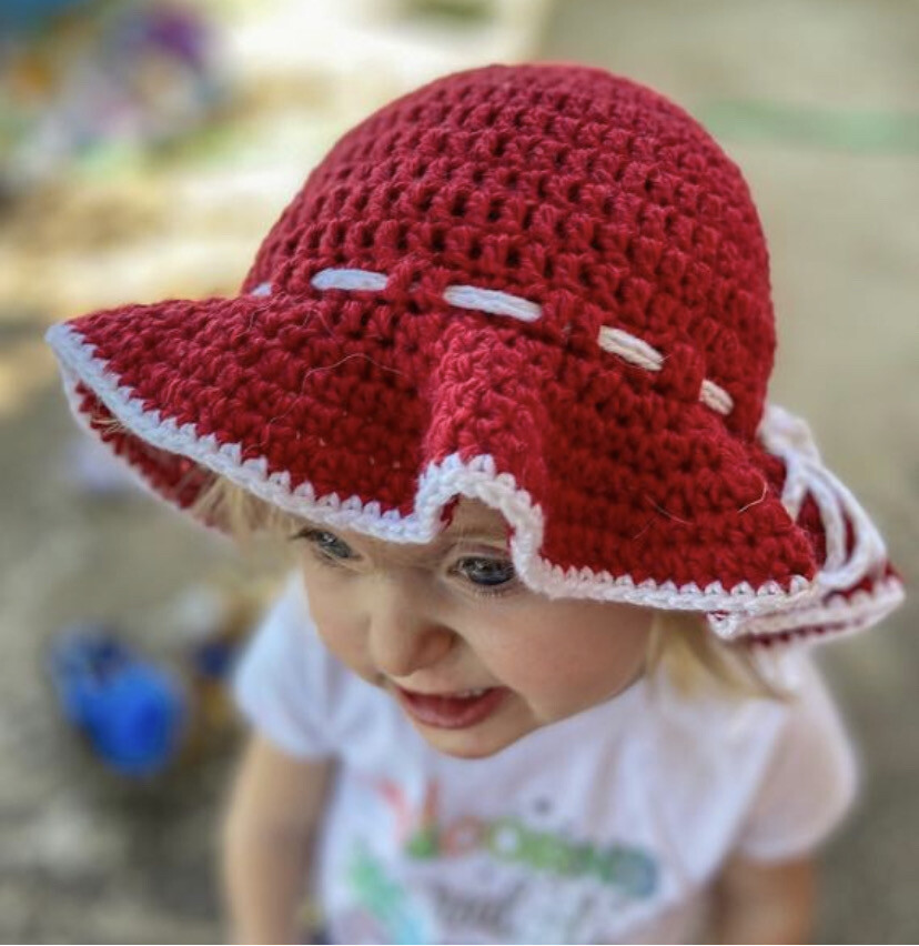 Floppy Crocheted Sun Hat Custom Made To Order Hat All Ages