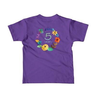 Wildflower 5th Birthday Children's T-Shirt