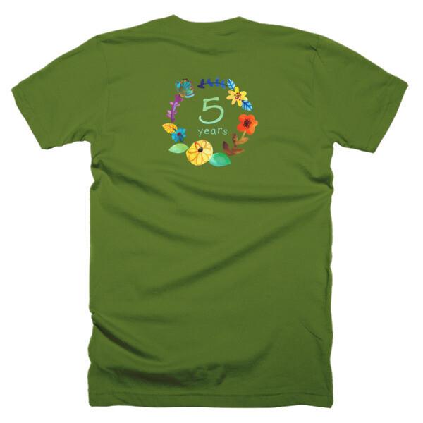 Wildflower 5th Birthday Adult T-Shirt