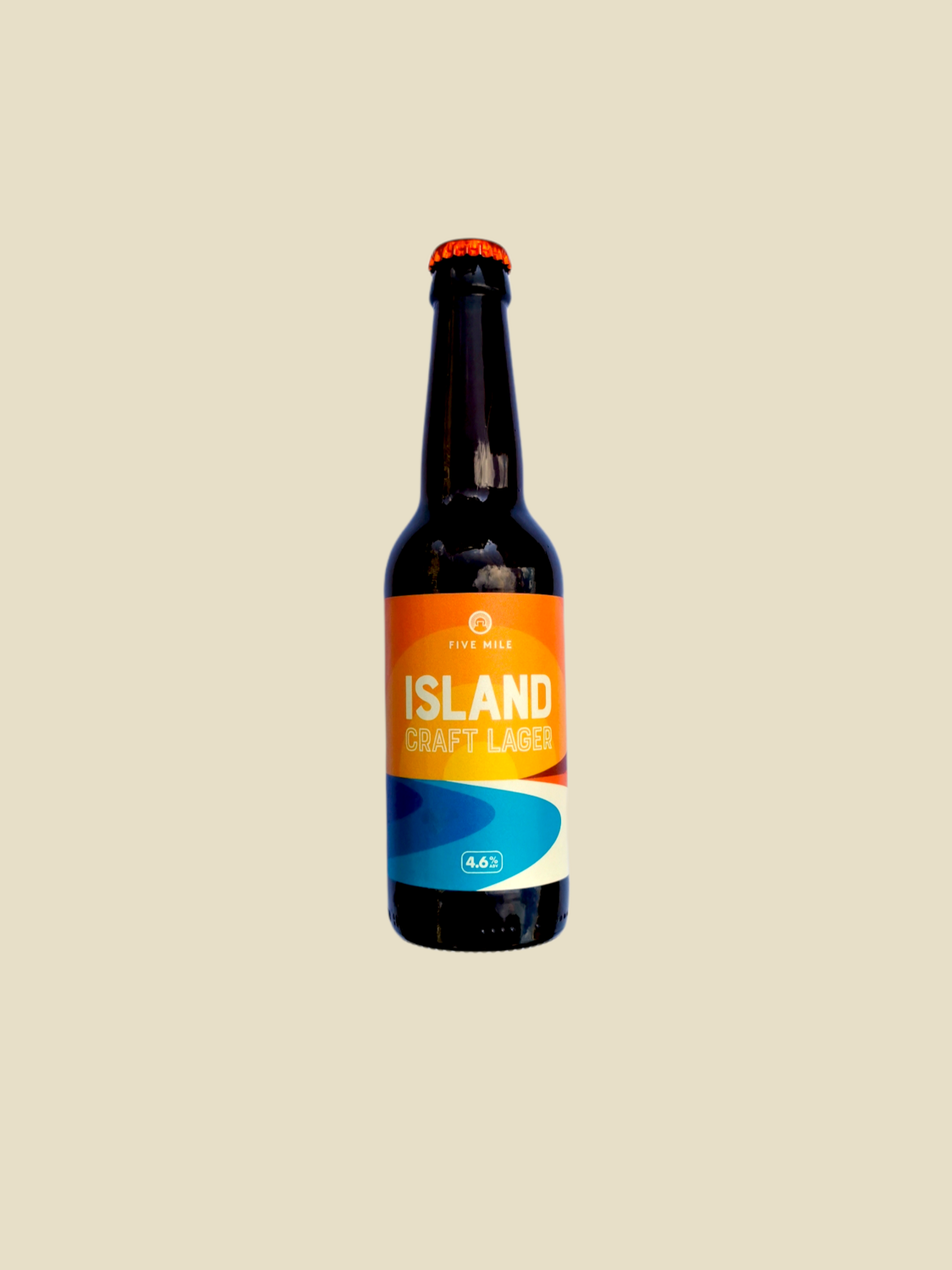 """Five Mile """"Island Craft Lager"""" - 12 x 330ml"""