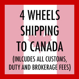 Shipping fee to Canada for 4 wheels