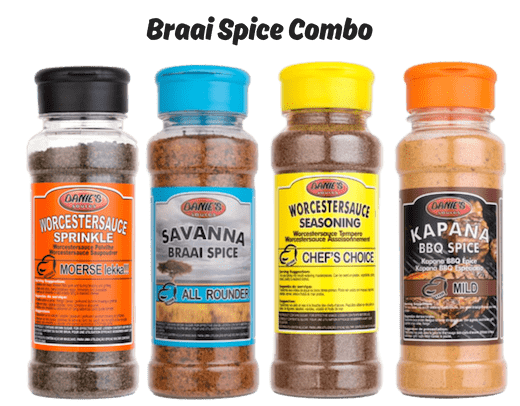 Braai Spice Combo (Pack size: 4 x 200g)