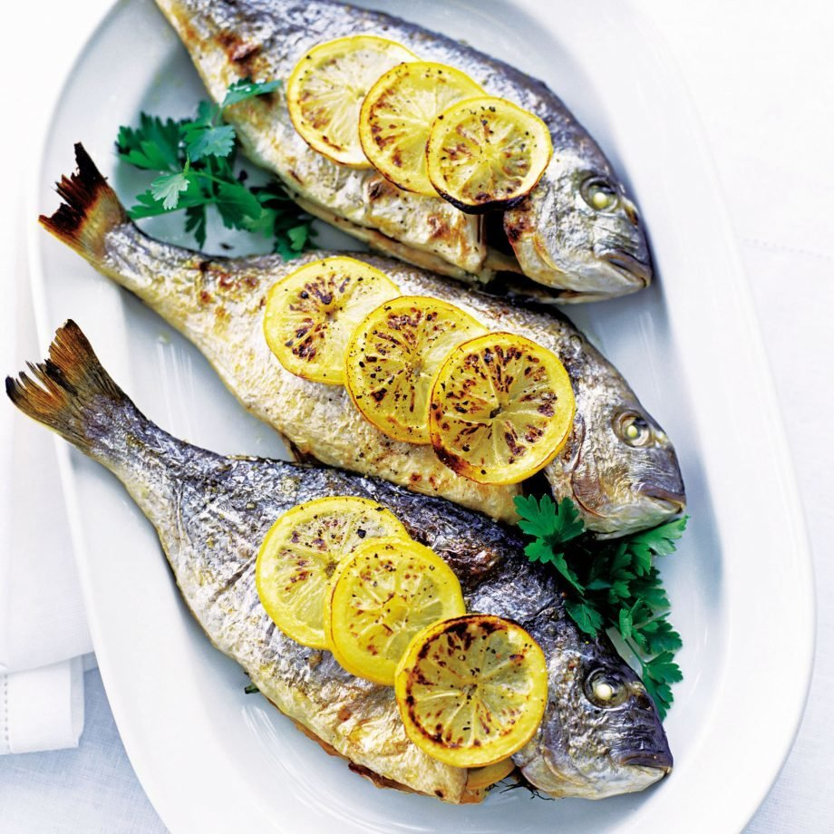 Spiced Baked Whole Sea Bream