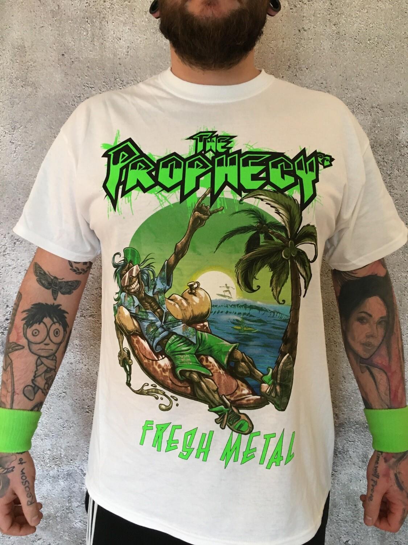T-Shirt 'FRESH METAL' (white)
