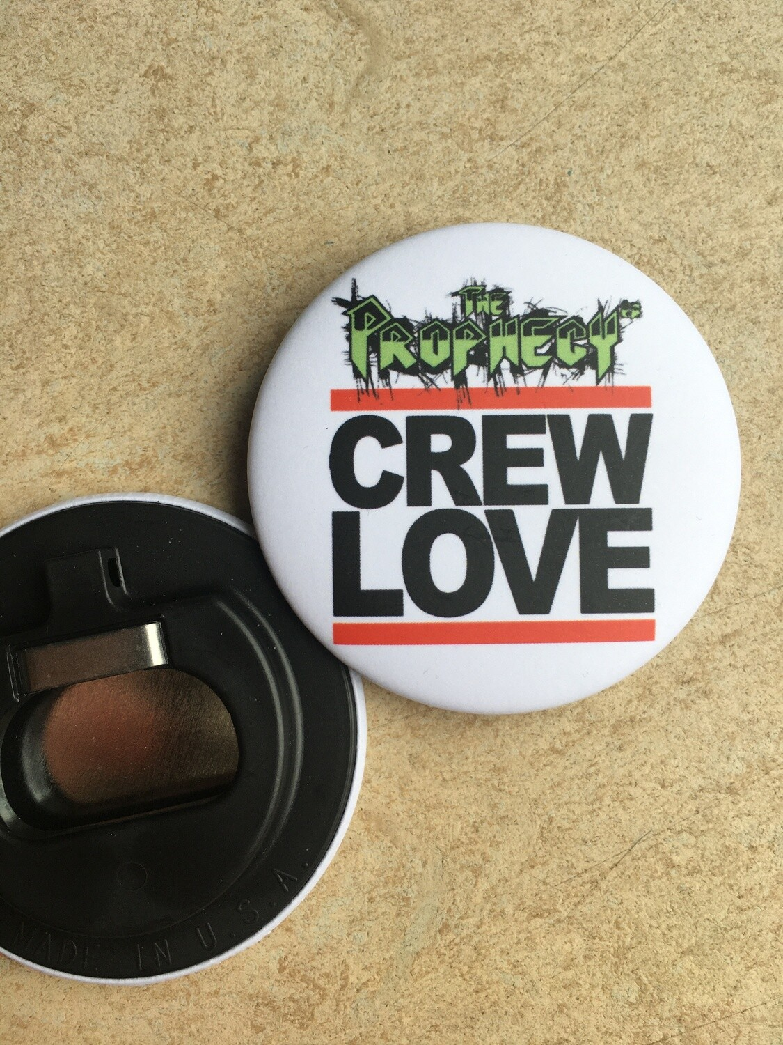 CREW LOVE - bottle opener / keychain