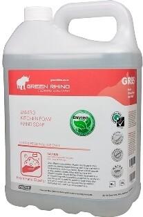 ** GRAFS-ENVIRO ** Green Rhino ENVIRO Antibacterial Foaming Hand Soap, Non-Fragranced, BIODEGRADABLE - 5 Litres