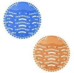 PureCLEAN Orange/Blue Urinal Pads - 10/100 Pack