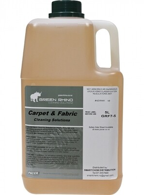 ****** GRCCD ****** Green Rhino Carpet Cleaner/Detergent, BIODEGRADABLE - 5 Litres