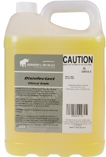 ****** GRCDC ****** Green Rhino Clinical Grade Disinfectant Cleaner - 5 Litres