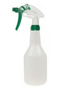 ***** GRBGT500 ***** Green Rhino Clear Spray Bottle and GREEN Trigger - 500ml