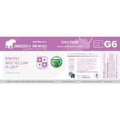 *** GRMP-ENVIRO-HL *** Green Rhino ENVIRO MultiClean Plus Label, Vinyl, Waterproof, Gloss Finish, For 500ml or 1L Bottles