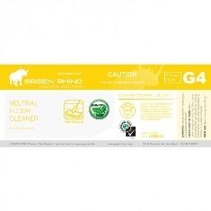 *** GRNFC-ENVIRO-HL *** Green Rhino ENVIRO Neutral Floor Cleaner Label, Vinyl, Waterproof, Gloss Finish, For 500ml or 1L Bottles