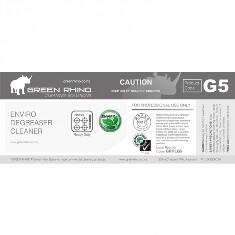 *** GRDC-ENVIRO-HL *** Green Rhino ENVIRO Degreaser Cleaner Label, Vinyl, Waterproof, Gloss Finish, For 500ml or 1L Bottles