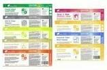 VARIOUS Green Rhino Half Label Stickers for 500ml Spray Bottles