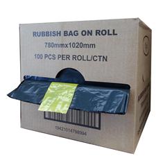 **** RB72L/80L-RL **** REGAL Black Rubbish Bags 72 - 80 Litres - 100 Bags