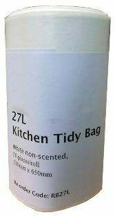 *** RB27LR (ROLL) *** REGAL White Bin Liners 27 Litres - 50 Liners