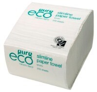 *** EH200HALF *** PureECO 1PLY RECYCLED Half Wipe Paper Towels, 200 sheets x 40 packs