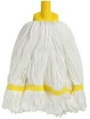 **** EYMMH350 **** EDCO YELLOW Microfibre Looped Glide Mop Heads - 350gm's