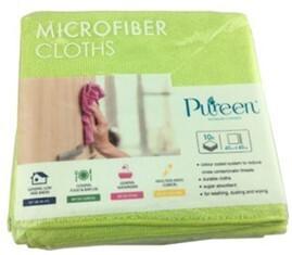 *** PCMCG40 *** PureCLEAN Microfibre Cloths, GREEN, 40cm