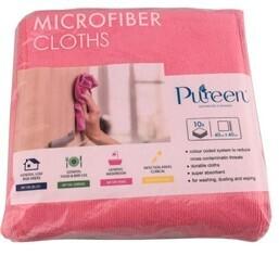 *** PCMCR40 *** PureCLEAN Microfibre Cloths, RED, 40cm